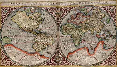 Planisphère réalisé par Rumold Mercator